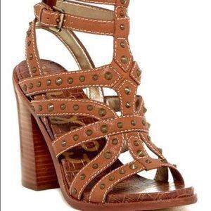 Sam Edelman Keith Croc Embossed Studded Sandal